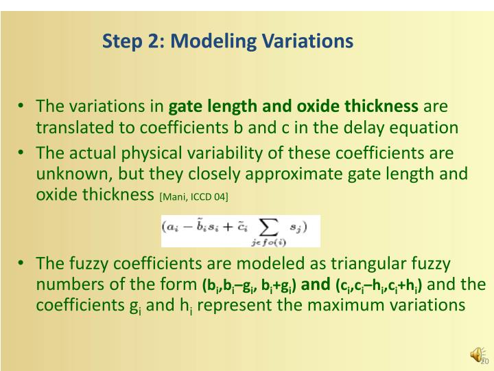 Step 2: Modeling Variations