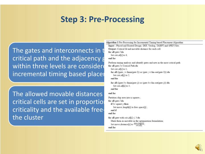 Step 3: Pre-Processing