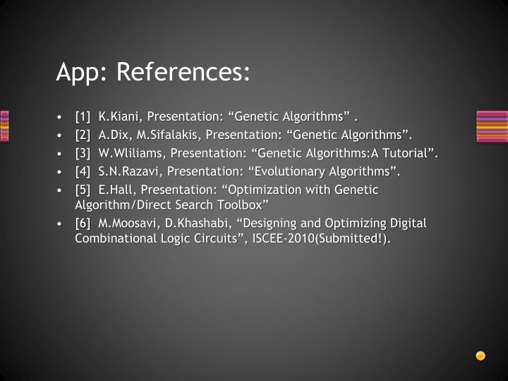 App: References: