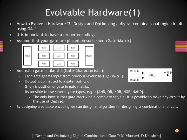 Evolvable Hardware(1)