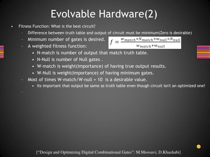 Evolvable Hardware(2)