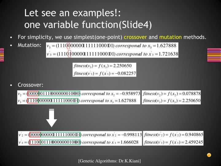 Let see an examples!:      one variable function(Slide4)