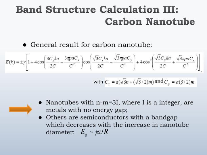 Ppt Electronic Structure Of Single Walled Carbon