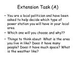 extension task a