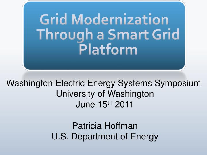 Grid modernization through a smart grid platform