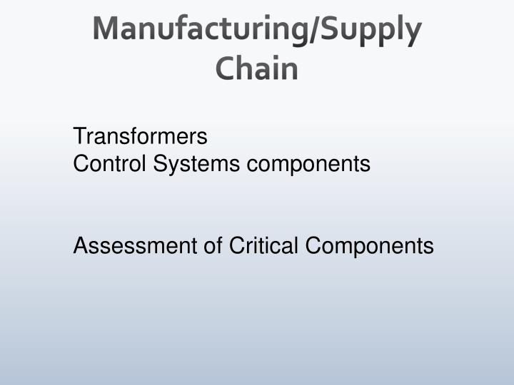 Manufacturing/Supply Chain
