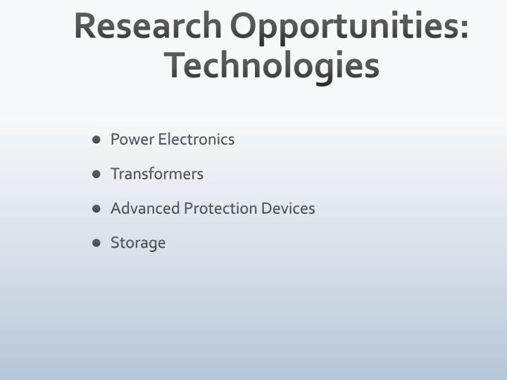 Research Opportunities: Technologies