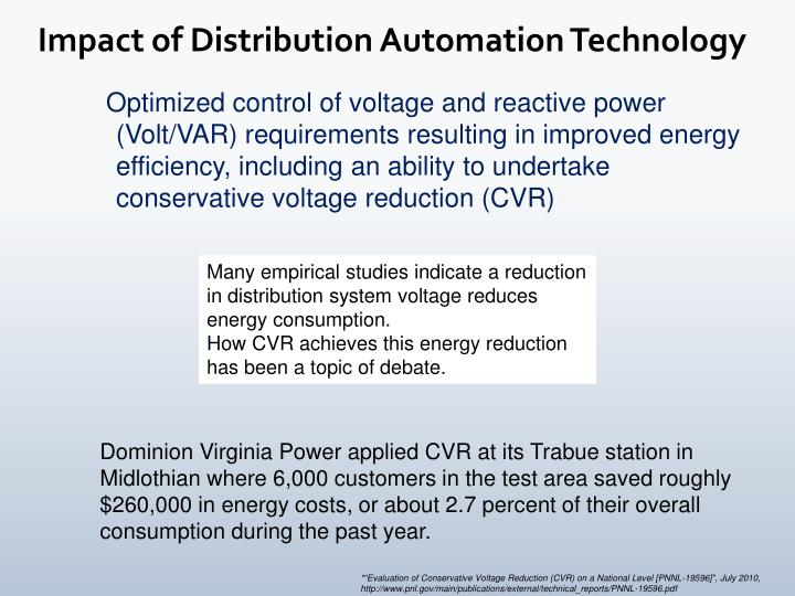 Impact of Distribution Automation Technology