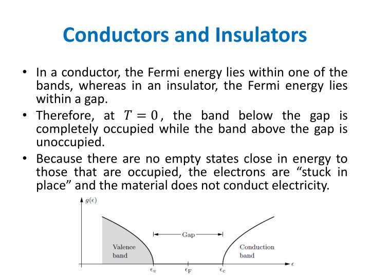 Conductors and Insulators