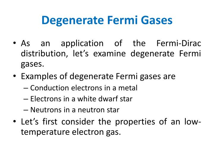 Degenerate Fermi Gases