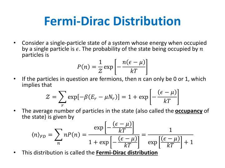 Fermi-Dirac Distribution