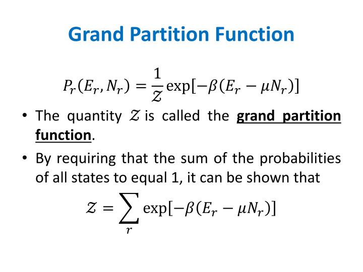 Grand Partition Function