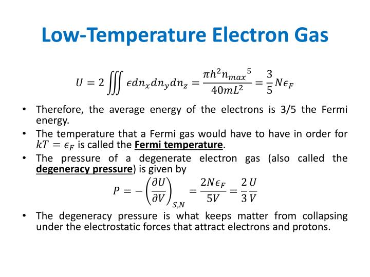 Low-Temperature Electron Gas