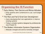 organizing the is function