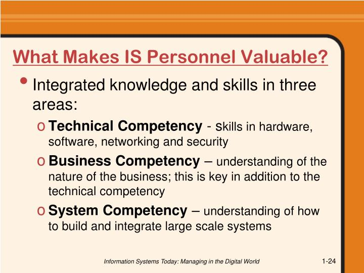 What Makes IS Personnel Valuable?