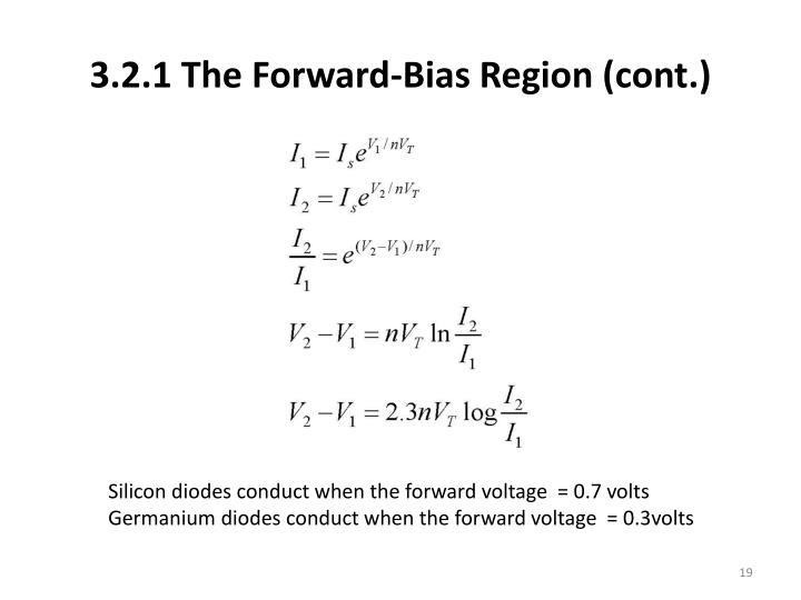 3.2.1 The Forward-Bias Region (cont.)