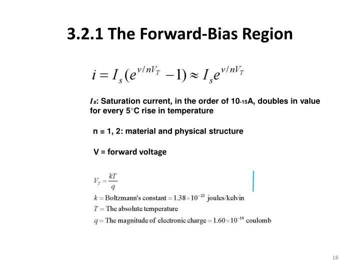 3.2.1 The Forward-Bias
