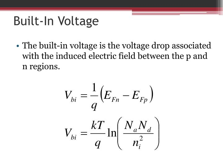 Built-In Voltage