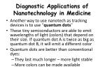 diagnostic applications of nanotechnology in medicine1