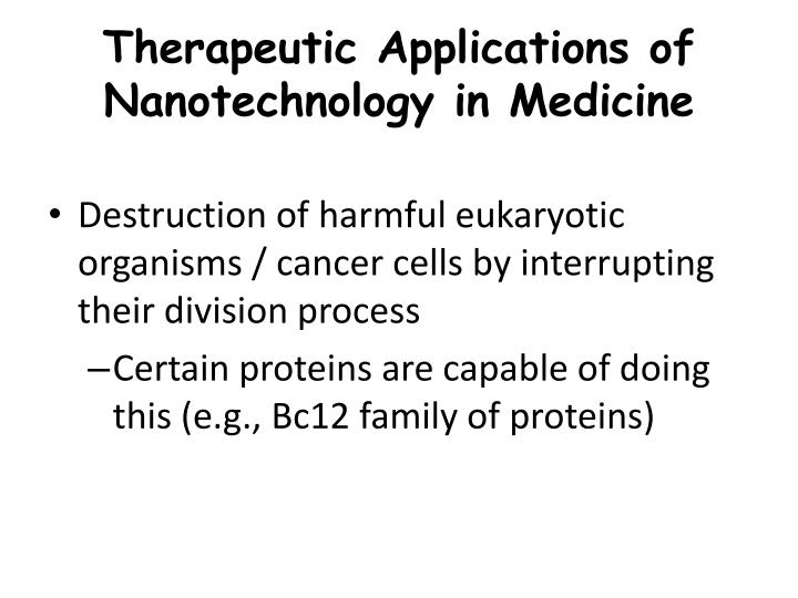 Therapeutic Applications of Nanotechnology in Medicine