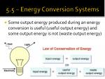 5 5 energy conversion systems