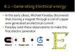 6 1 generating electrical energy