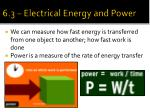 6 3 electrical energy and power