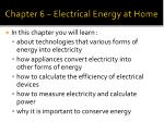 chapter 6 electrical energy at home