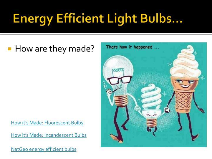 Energy Efficient Light Bulbs…