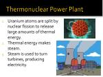 thermonuclear power plant