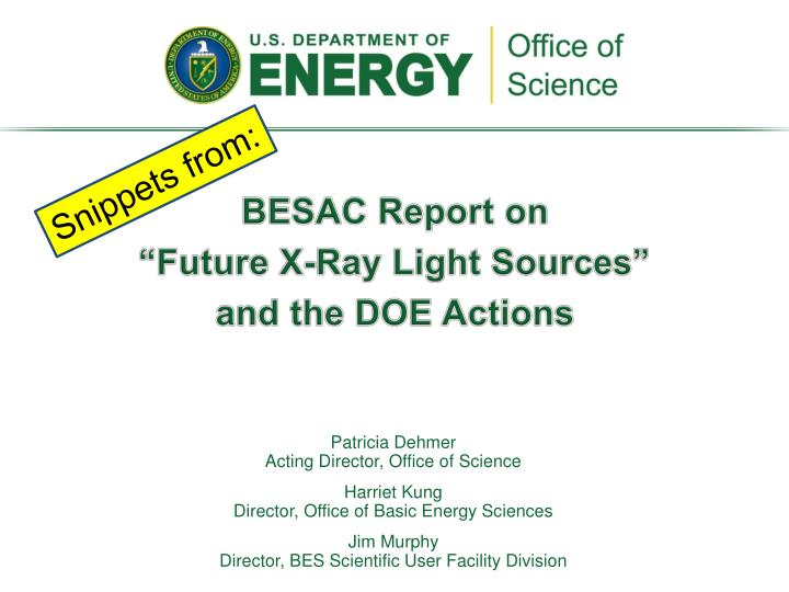 BESAC Report on