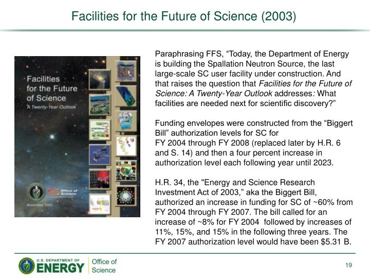 Facilities for the Future of Science (2003)