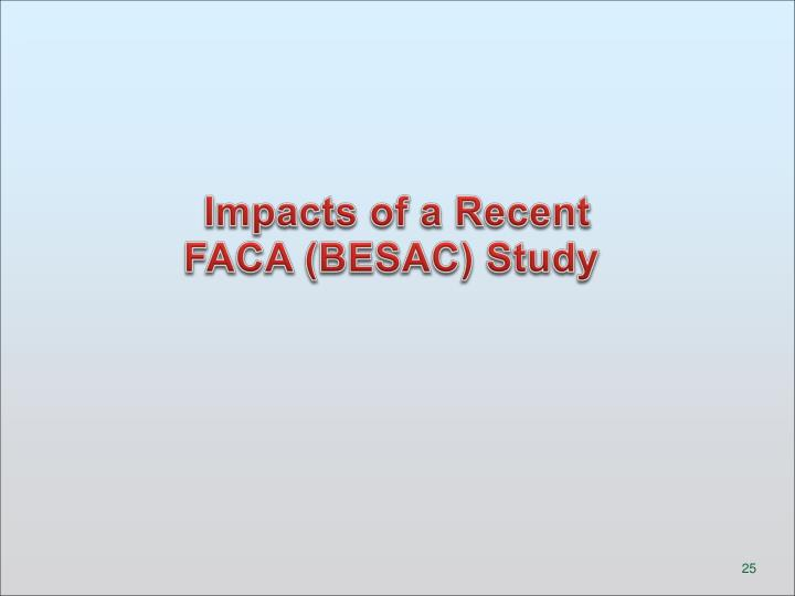 Impacts of a Recent