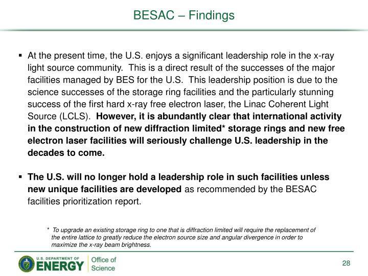 BESAC – Findings