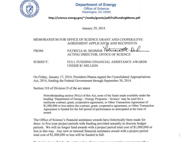 http://science.energy.gov/~/media/grants/pdf/FullFundingMemo.pdf