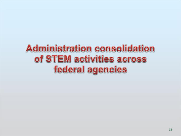 Administration consolidation