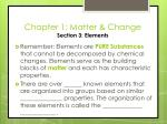 chapter 1 matter change section 3 elements1