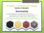 chapter 1 matter change section 3 elements25