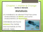 chapter 1 matter change section 3 elements33