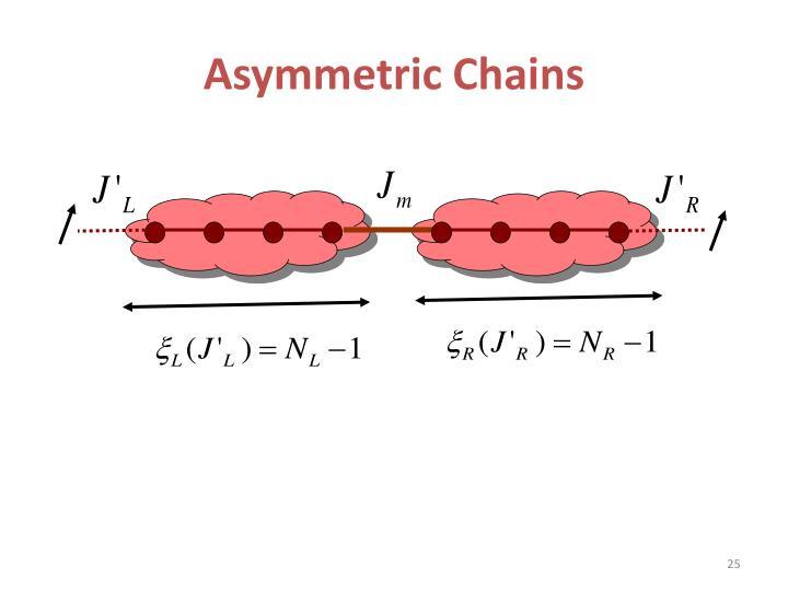Asymmetric Chains