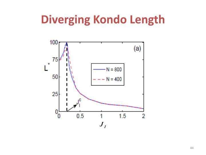 Diverging Kondo Length