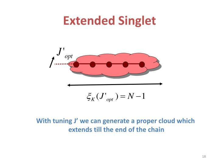 Extended Singlet