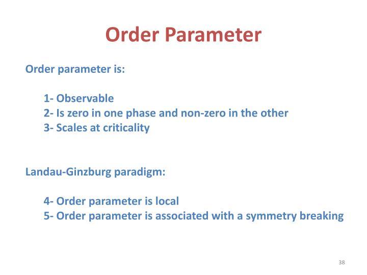 Order Parameter