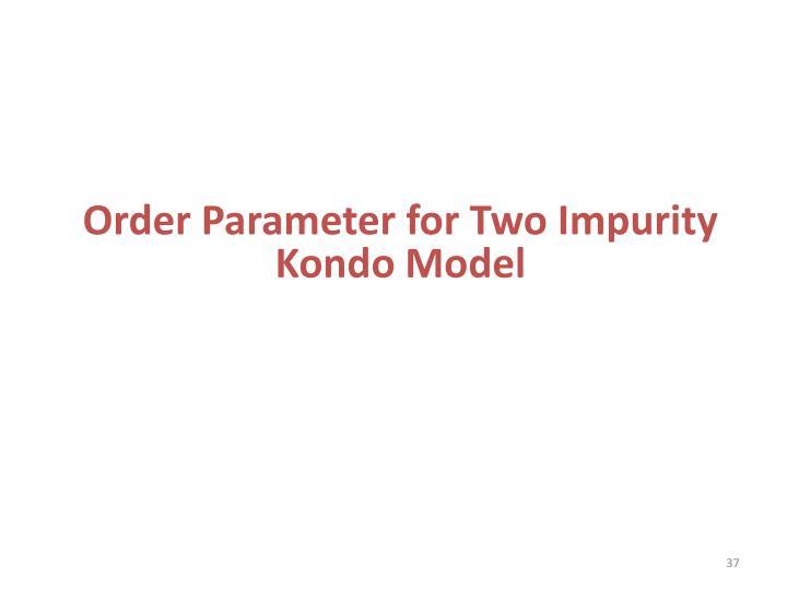 Order Parameter for Two Impurity Kondo Model