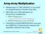 array array multiplication