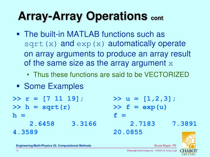 The built-in MATLAB functions such as