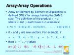 array array operations