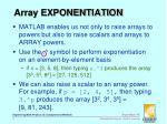 array exponentiation