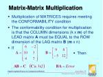 matrix matrix multiplication