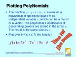plotting polynomials